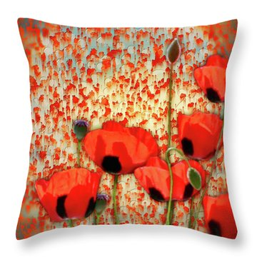 Flanders Fields Throw Pillow