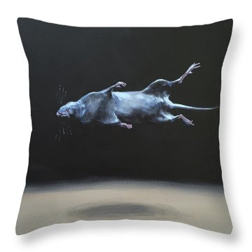 Floating Field Mouse Throw Pillow