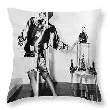 Flapper Fashion Film Still Throw Pillow