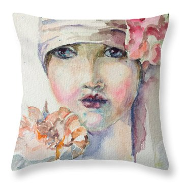 Flapper Throw Pillow