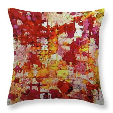 Throw Pillow featuring the painting Flare Up Ink #8 by Sarajane Helm