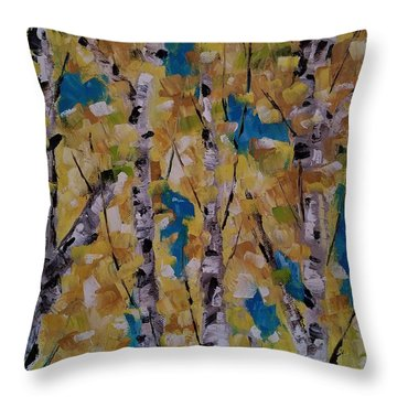 Throw Pillow featuring the painting Flash Point by Judith Rhue