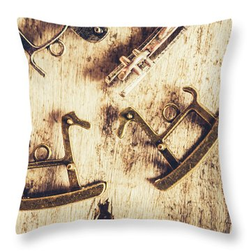 Flashback From The Wooden Toy Box Throw Pillow