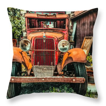 Throw Pillow featuring the photograph Flat Bed Ford by Nick Zelinsky