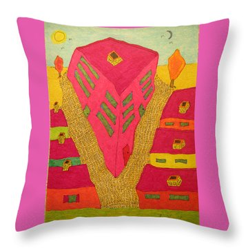 Flat Iron Bldg Throw Pillow