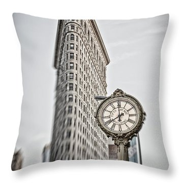 Throw Pillow featuring the photograph Flat Iron Building by Juergen Held