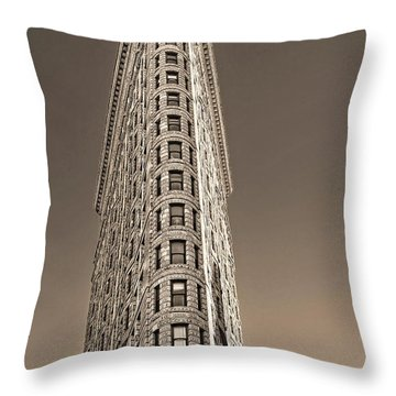 Flat Iron Building New York City Throw Pillow