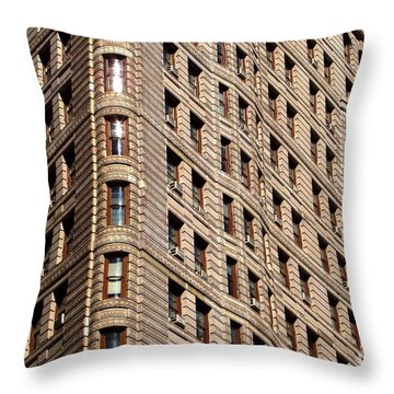 Flat Iron Throw Pillow