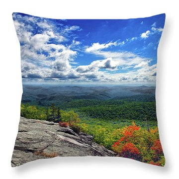Flat Rock Vista Throw Pillow
