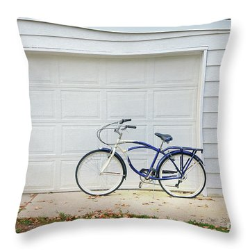 Throw Pillow featuring the photograph Flat Tire Bicycle by Craig J Satterlee