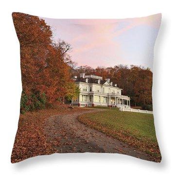 Flat Top Manor At Sunrise Throw Pillow