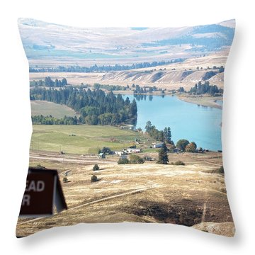 Flathead River 4 Throw Pillow
