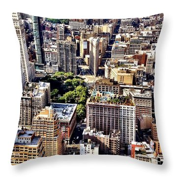 Skyscrapers Throw Pillows
