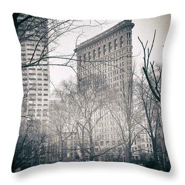 Flatiron District 2 Throw Pillow