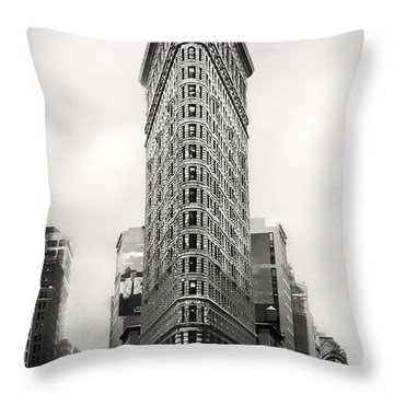 Flatiron District Rush Hour Throw Pillow