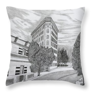 Flatiron In Asheville  Throw Pillow