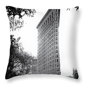 Flatiron Noir Throw Pillow