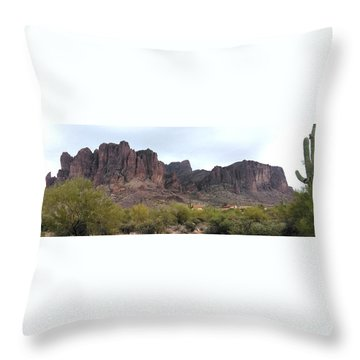 Flatiron Of The Superstition Mountains Throw Pillow