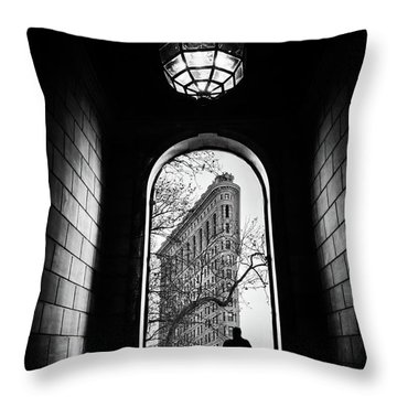 Throw Pillow featuring the photograph Flatiron Perspective by Jessica Jenney