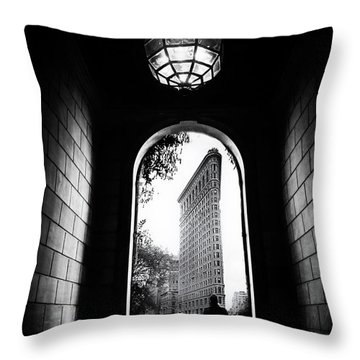 Throw Pillow featuring the photograph Flatiron Point Of View by Jessica Jenney