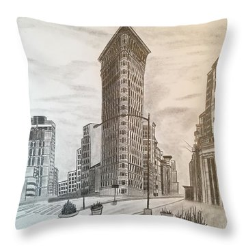 Flatiron Study Throw Pillow