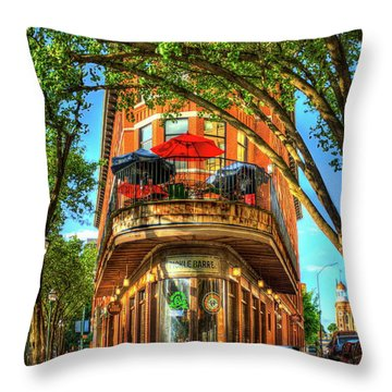 Flatiron Style Pickle Barrel Building Chattanooga Tennessee Throw Pillow