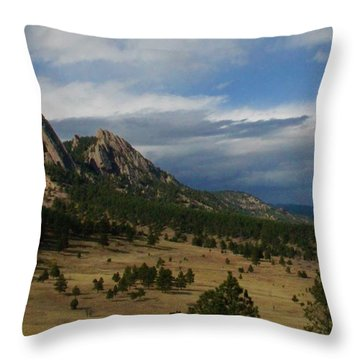 Flatirons, Boulder, Colorado Throw Pillow