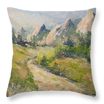 Flatirons In The Rockies Throw Pillow