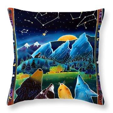 Flatirons Stargazing Throw Pillow