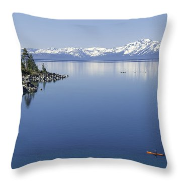 Flatwater Kayak Throw Pillow
