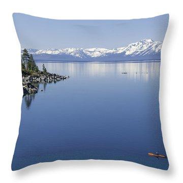 Flatwater Kayak Throw Pillow