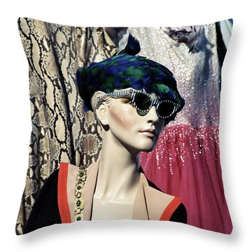 Flea Market Style Throw Pillow
