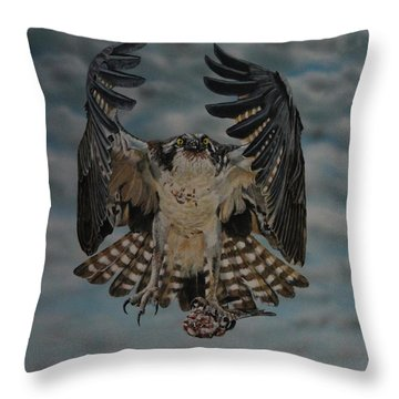 Fleck The Osprey  Throw Pillow