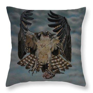 Fleck The Osprey  Throw Pillow