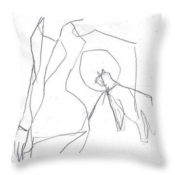 Fleeing Woman Throw Pillow