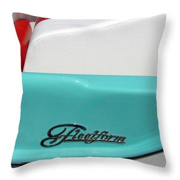 Fleetform Powerboat Lll Throw Pillow