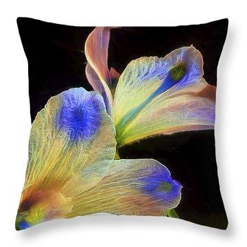 Fleeting Flowers Throw Pillow