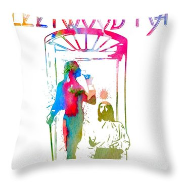 Fleetwood Mac Album Cover Watercolor Throw Pillow