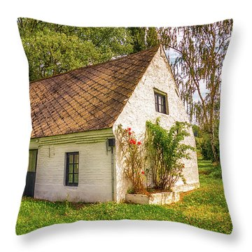 Flemish Cottage Throw Pillow