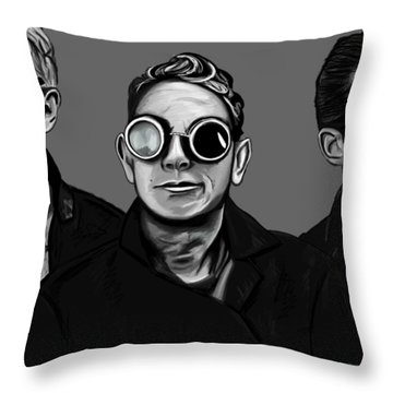 Fletch Martin And Dave With Welder Goggles 2 Throw Pillow