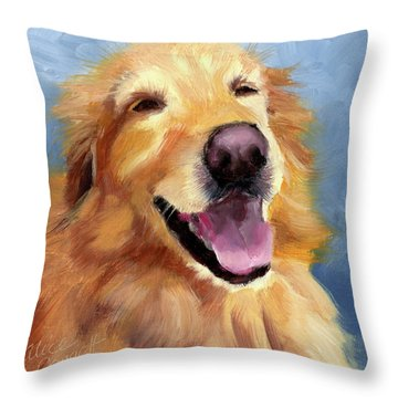 Fletcher Laughing Throw Pillow