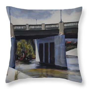 Fletcher Street Bridge Throw Pillow