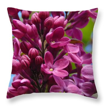 Fleur De Lilac Throw Pillow