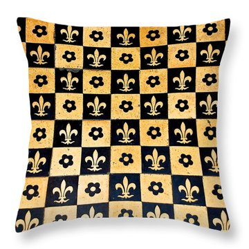 Fleur De Lis Floor Throw Pillow