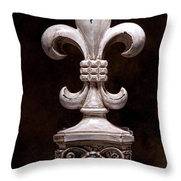 Fleur De Lis Iv Throw Pillow by Tom Mc Nemar