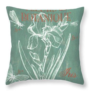 Fleurs De Botanique Throw Pillow