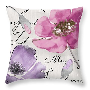 Fleurs De France IIi Throw Pillow