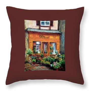 Fleurs Throw Pillow by Jill Musser
