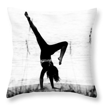 Throw Pillow featuring the photograph Flexible by Alan Raasch