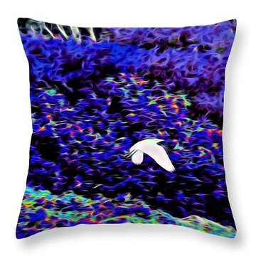 Flight 1 In Abstract Throw Pillow